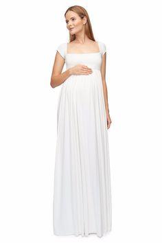 5de0437ee Best in Class  21 Stylish White Maternity Dresses. Embarazo Con Estilo Vestidos ...