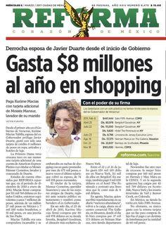 """El TT """"Karime Macías"""" se ocupa para informar que la esposa de Javier Duarte gastaba 8 millones de pesos al año. http://qoo.ly/e5d88"""