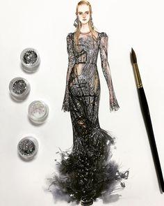 1,232 個讚,24 則留言 - Instagram 上的 SONIA 邵邵(@sonia_shao):「 #alexandermcqueen #leahrodl #soniashao #fashionillustrations #illustration #watercolor #fashionart… 」