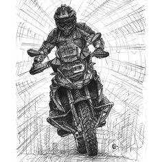 BMW R 1200 GS Rallye  #motorcycledrawing #motorcyleart #inkpen #drawing #inkpendrawing #drawing #dessin #encredechine #sketching #bmw1200gs #gs #gsadventure #gsa #adventurebike #adventure #christophe_sarrazin #bmwmotorrad #bmwbikes #bmwmoto #bmw