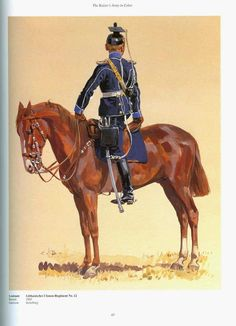 German; 12th(Lithuanian) Uhlans, Leutnant. Raised 1860. Home Depot Insterburg. I Army Corps