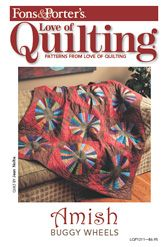 The Amish Buggy Wheel is a classic quilt. Try your hand at this challenging quilt!