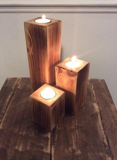 Pallet Candle Holders - Easy to Make | Pallet Furniture DIY
