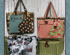Pockets-A-Plenty tote bag  Sewing Pattern by WhistlepigCreek