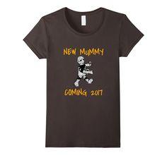 Women's Halloween Pregnancy Announcement T-Shirt. New Mummy To Be Small Asphalt