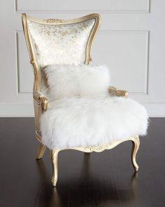 Massoud Fiorello Hairhide Wing Chair