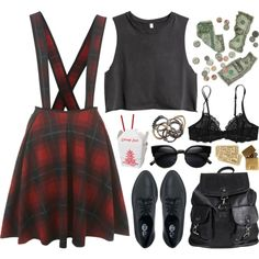 Go Figure by deca-froses on Polyvore featuring Miss Selfridge, H&M, Victoria's Secret PINK, Cheap Monday, Agent Ninetynine, Iosselliani, In God We Trust and grunge