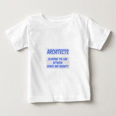 Architect Joke  Genius and Insanity T Shirt, Hoodie Sweatshirt