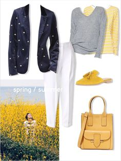 #FITUIN Looking forward to #spring #yellow #mule #whitetrousers #stripes