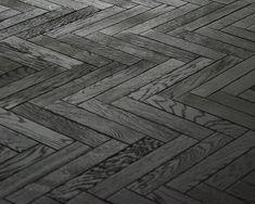 black herringbone floor - Google Search