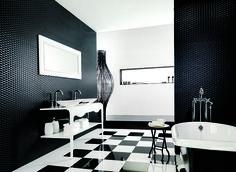 Conexão Décor www.conexaodecor.com Decoração de banheiro em preto e branco 2