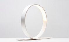 Futuristic Loop table lamp by Timo Niskanen