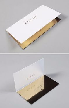 Gold mirrored and laser-cut wedding invitation wording design inspiration from Gucci at fashion week