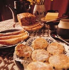 Need filling up  - then try some Welsh baking goodness from: Welsh cakes, Bara brith, Teisen lap, Reisen carawe, Teisen Mel, griddle cakes, scones, pancakes and various varieties of breads all served oozing with rich Welsh Butter. Yum.