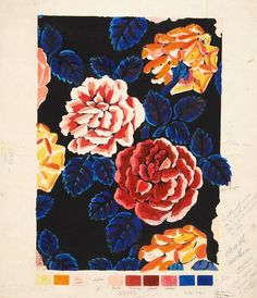 Raoul Dufy / Untitled (Fabric design for Bianchini Férier), N/D Gouache over pencil on wove paper