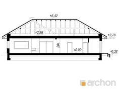 gotowy projekt Dom w różach (G2) przekroj budynku