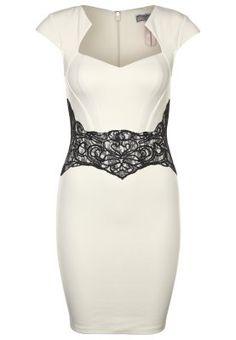Figurbetontes Kleid mit aufregender Spitze. Lipsy Cocktailkleid / festliches Kleid - cream/black für 79,95 € (07.02.15) versandkostenfrei bei Zalando bestellen.