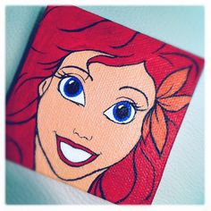 Ariel The Little Mermaid Mini Canvas by StaceChase on Etsy, $15.00