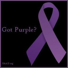 Cystic Fibrosis Awareness Purple ribbons also represent Lupus and Pancreatic cancer