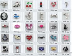 Wholesale Earring And Necklace Set - Buy Mixed 30 Styles Floating Charm for Floating Charm Locket, $0.1   DHgate.com