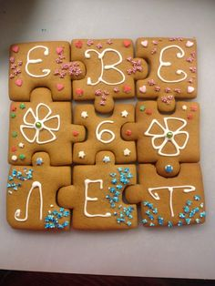 Bday card gingerbread puzzle
