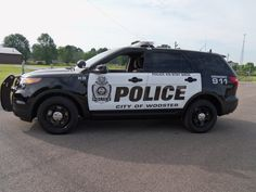 Ford Police Interceptor Utility vehicle - Wooster, Ohio Police Department. This vehicle has a complete customized upfit for use as the agency's state of the art K9 vehicle. Equipment integration was done by Crown North America (a division of Leggett + Platt Commercial Vehicle Products). #Ford #Police