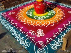rangoli design diwali by aakruti