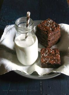 Sweet and Salty Brownies from unegaminedanslacuisine