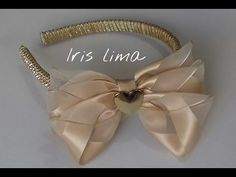 Como fazer laço mil faces Diy ,Tutorial ,Pap By Iris Lima How To Make a Hair Bow…