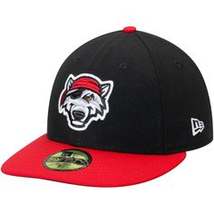 Erie SeaWolves New Era Low Profile Authentic Collection 59FIFTY Fitted Hat - Black
