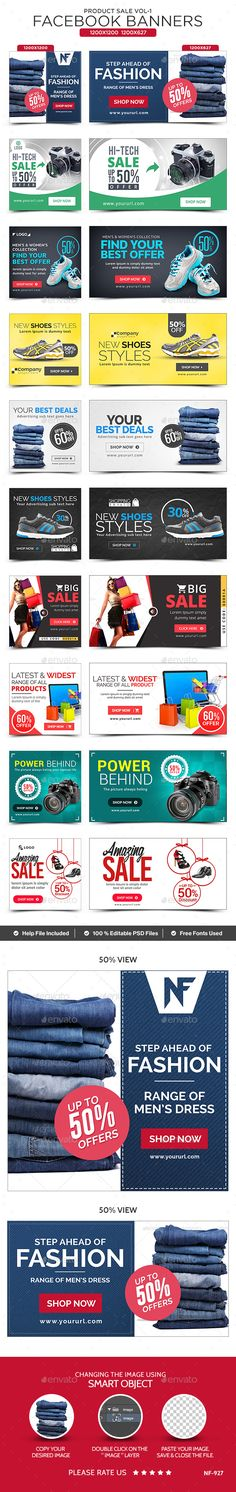 Product Sale Facebook Banners - 10 Designs Template PSD #ad Download: http://graphicriver.net/item/product-sale-facebook-banners-10-designs/14107542?ref=ksioks