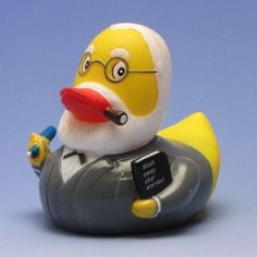Sigmund Freud Badeente - this one i need most of all. I can put him on the bookshelf next to my Freud book collection