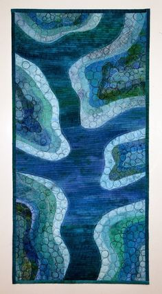 Blue Rivers by Ita Ziv (Israel) as seen at International Threads