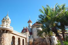 Prince Eric's Castle - Under the Sea Journey of the Little Mermaid in New Fantasyland in Magic Kingdom at Walt Disney World