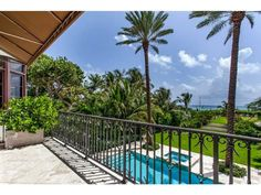 A balcony right off of the master bedroom, Miami Beach, FL Coldwell Banker Residential Real Estate