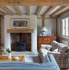 Terrific Pics curved Brick Fireplace Concepts Farmhouse – Border Oak – oak framed houses, oak framed garages and structures. Farm House Living Room, Inglenook, Rustic Farmhouse Fireplace, Farmhouse Living, Oak Frame House, House, Fireplace Surrounds, Cottage Living Rooms, Border Oak