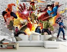 3d wallpaper custom photo non-woven mural wall sticker 3d The avengers alliance heroes painting 3d wall room murals wallpaper //Price: $US $16.87 & FREE Shipping //    #capitainamerica #capitãoamerica #marvel #avenger