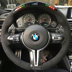 F30 M3, with a Alcantara Mperformance racing steering wheel, with a bit of carbon to finish it off