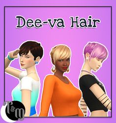 Happy Birthday Presenting the Dee-va Hair by teanmoon Comes in all EA Colors Base Game Compatible TF-EF Sorted under feminine short hair Hat Compatible Enabled for Random Custom. The Sims, Feminine Short Hair, Maxis, The Imitation Game, Nikki Sims, Sims 4 Cc Makeup, Sims 4 Mm Cc, Sims 4 Cc Finds, Sims Mods