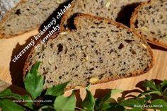 Vícezrnný kváskový chleba se semínky How To Make Bread, Bread Making, Banana Bread, Food And Drink, Desserts, Recipes, Gardening, Art, Baking