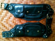 Leather Utility Belt The Traveler Hip by ThaiArtistCollective - $75
