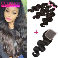 Find More Human Hair Weft with Closure Information about Brazilian Virgin Hair Body Wave With Closure Unprocessed Human Hair Weave 3 Bundles And Lace Closure Hot Wet And Wavy Closure,High Quality hair closure,China hair brush for sale Suppliers, Cheap hair closure piece from CCollege official store on Aliexpress.com