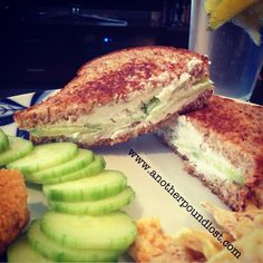 Cucumber Goat Cheese Grilled Cheese! 7 WW PointPlus!