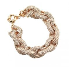 Gemma pave chain link bracelet