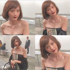 Pin on ideas Pin on ideas Japanese Beauty, Korean Beauty, Asian Beauty, Girl Short Hair, Short Hair Cuts, Short Hair Styles, Hairstyles With Bangs, Girl Hairstyles, Tsubasa Honda