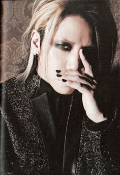 Yuu Shiroyama (Aoi, the GazettE) he's so god damn gorgeous! He can literally kill you with his gorgeous looks!