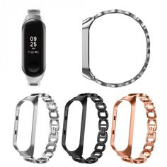 Newly Stainless Steel Strap Bracelet Band Wriststrap for Xiaomi Mi Band 3 - SuperCams. Light Effect, Watch Bands, Stainless Steel, Bracelets, Charm Bracelets, Watch Straps, Bracelet, Bangle