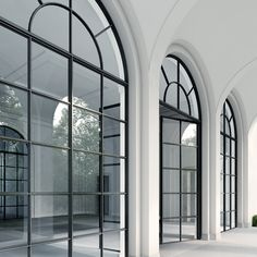 So, here are 5 Windows Styles which suits the Indian House Interior which you can opt for. Check out the Best Window Design For Home and choose the most suitable Window Designs for your home. Wrought Iron Doors, Arched Doors, Arched Windows, Iron Windows, Black Windows, Sliding Doors, Huge Windows, Window Design, Door Design