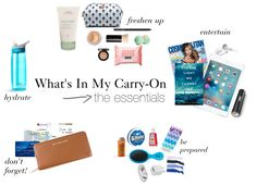 How To: The Perfectly Packed Carry-On - Essentials for Easy Traveling! Everything you need for an organized and efficient carry-on bag, no matter where you travel!