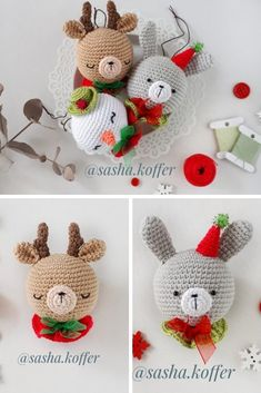 Crochet Christmas Decorations Make some cute ornaments for your tree! Learn the rudiments of how to Crochet Christmas Decorations, Crochet Ornaments, Christmas Crochet Patterns, Easy Christmas Crafts, Christmas Knitting, Crochet Patterns Amigurumi, Diy Crochet And Knitting, Crochet Home, Crochet Crafts